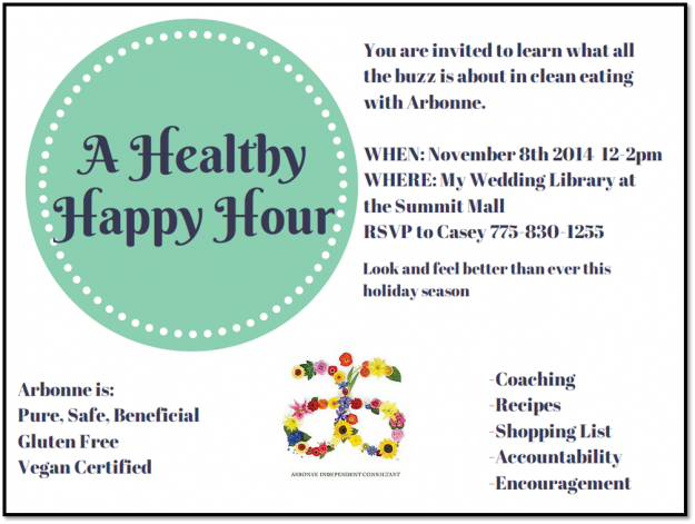 My Wedding Library A Healthy Happy Hour Hosted By Arbonne Reno Lake Tahoe